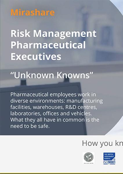 Risk Management Pharmaceutical Executives