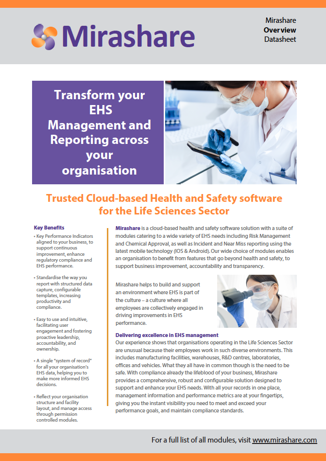 EHS Software for Life Sciences